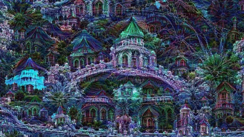 The deepdreaming fractal mind of AI