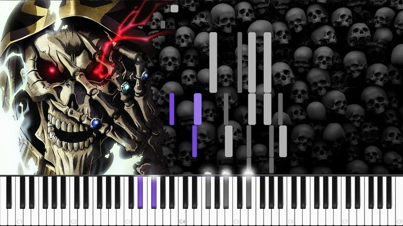 VORACITY Overlord OP 3 Piano Tutorial Synthesia Kira