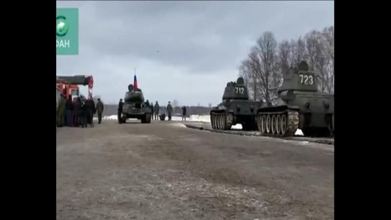 Легендарные машины советского периода стали в боевой строй, - минобороны РФ сформировало батальон из танков Т-34, подаренных Л