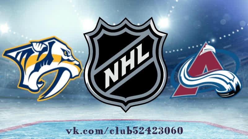 Nashville Predators vs Colorado Avalanche | 21.01.2019 | NHL Regular Season 2018-2019