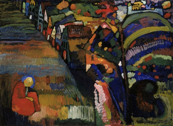 Василий Кандинский — Картина с домами, 1909