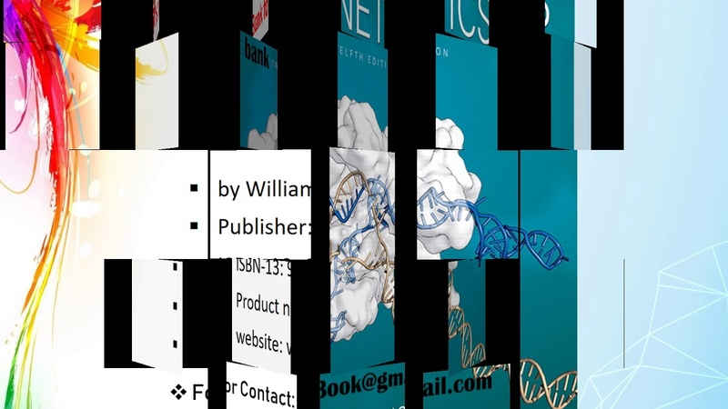 Test Bank for Concepts of Genetics 12th Edition