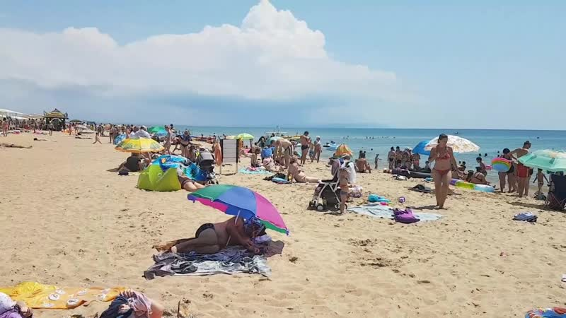 Анапа. Благовещенская погода 15.07.2017 центральный пляж температура воды