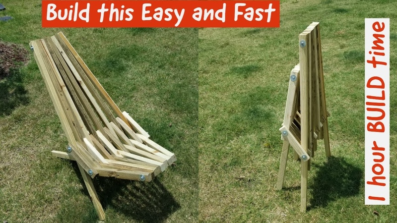 Build a Stick Chair in 1 hour stickchair campingchair