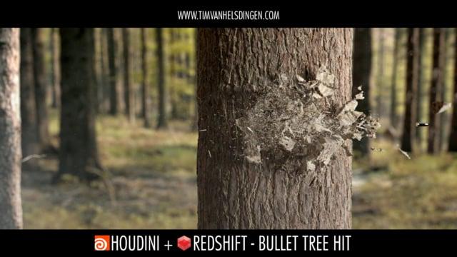 Houdini Redshift: Bullet Tree Hit