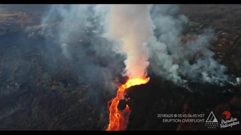 Part I из II - 20.06.2018 Eruption Overflight