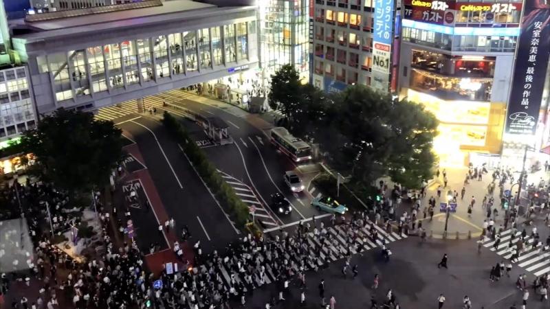 Шибуя самый загруженный перекресток мира Shibuya Worlds Busiest Intersection