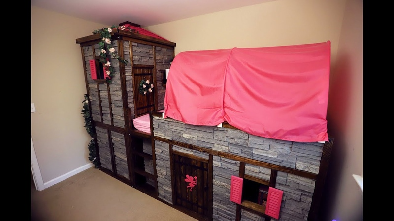 IKEA Hack - Kura Bed Converted Into A Fairy Princess Castle
