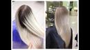 Градиент на волосах блонд Градиентное окрашивание волос Gradient hair dyeing