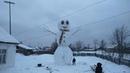 10 метровый снеговик в Удмуртии.