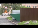На улице Васильева появилась площадка для мусорного контейнера