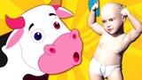 Изучите имена животных и звуки для детей Изучите цвета #Cow La Vaca Lola для детей