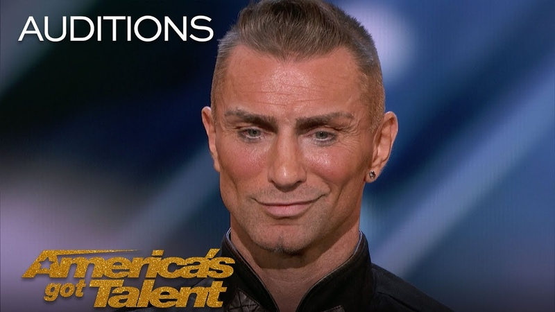 Aaron Crow Pours Hot Wax On Eyes And Swings Sword At Howie Mandel - Americas Got Talent 2018