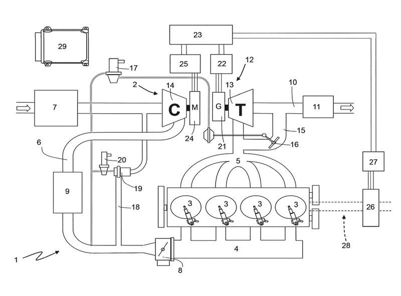 Ferrari запатентовала гибридный электронаддув.