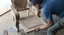 Woodworking Skills Of Carpenters Making And Assembly King Chair Is Simple, Extremely Beautiful