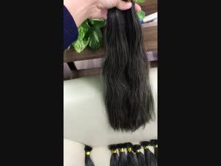 Falt tips grey hair extension