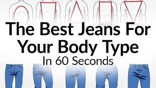 Best Jeans For Body Type | What Denim Fits A Man Best | Jean Denims Visual Fit Guide Video