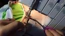 Обработка изнаночного шва горловины бейкой из кулирки
