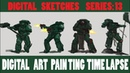 Digital Art Painting [Time Lapse] Digital Sketches-13