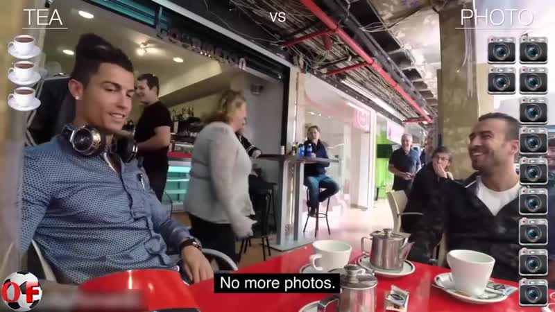 Криштиано Роналду зашел в кафе попить чая