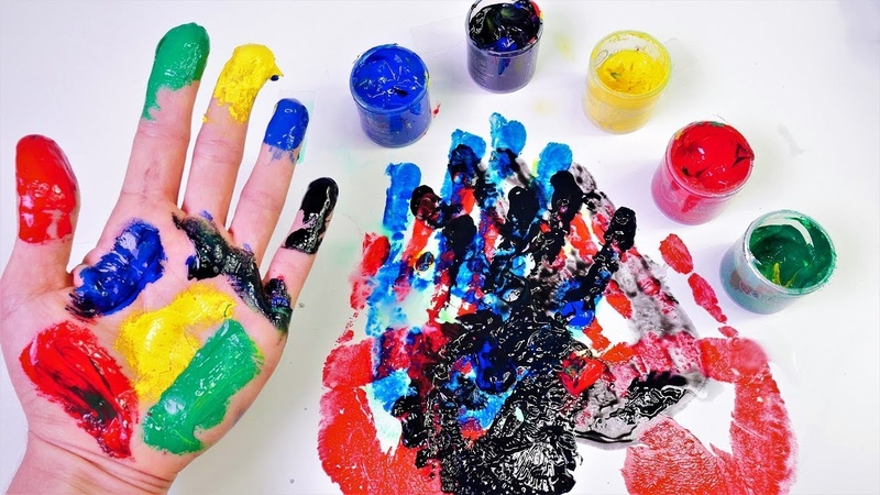 Bebek videosu. Ellerimizle rengarenk boyama yapalım.