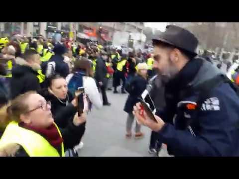 Marche des Femmes Gilets Jaunes Paris République 6 janvier 2019 21 La Marseillaise