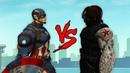 Captain America VS Winter Soldier- GTA 5 Steve Rogers vs Bucky Barnes