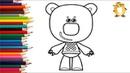 Раскраска для детей ГЕРОИ МУЛЬТИКА Мимимишки - КЕША Инокентий