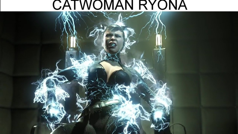 185 Catwoman Ryona Getting Beaten Up Injustice 2 ryona リョナ