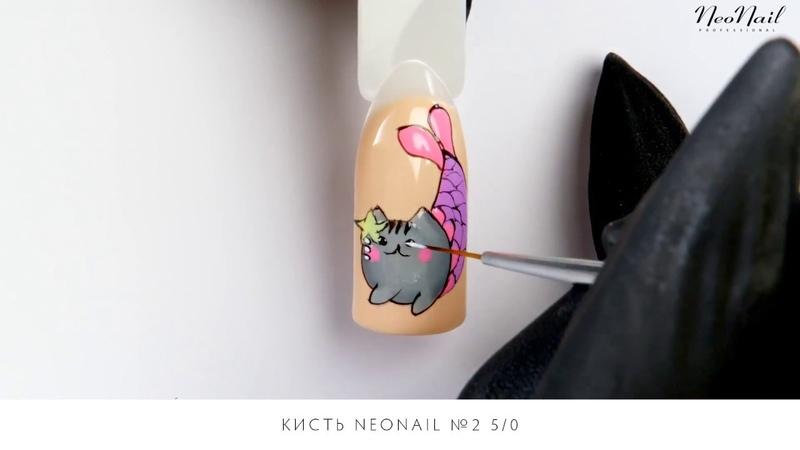 Мастер класс Красочный дизайн ногтей с кошкой Pusheen NeoNail