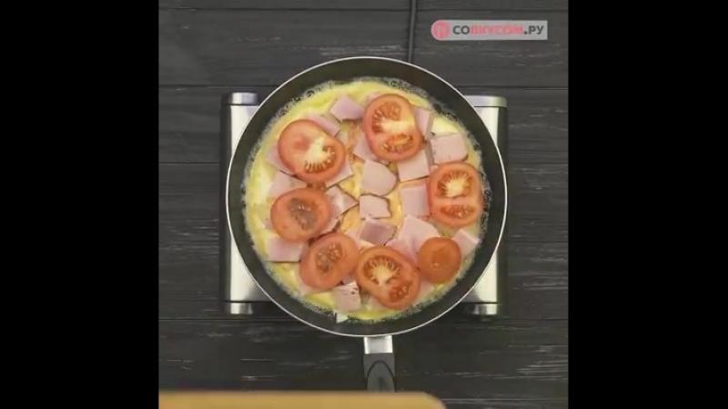 Пицца на сковороде за 10 минут.