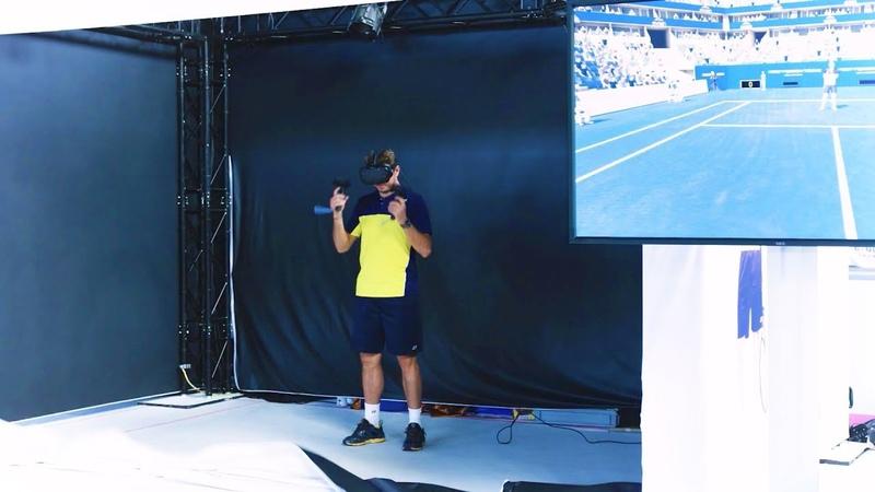 Stan Wawrinka plays First Person Tennis - The Real Tennis Simulatorв VR ZONE