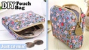 DIY CUTE ZIPPER COINS POUCH BAG TUTORIAL Purse Woman or Kids You Can Easy Sew Yourself
