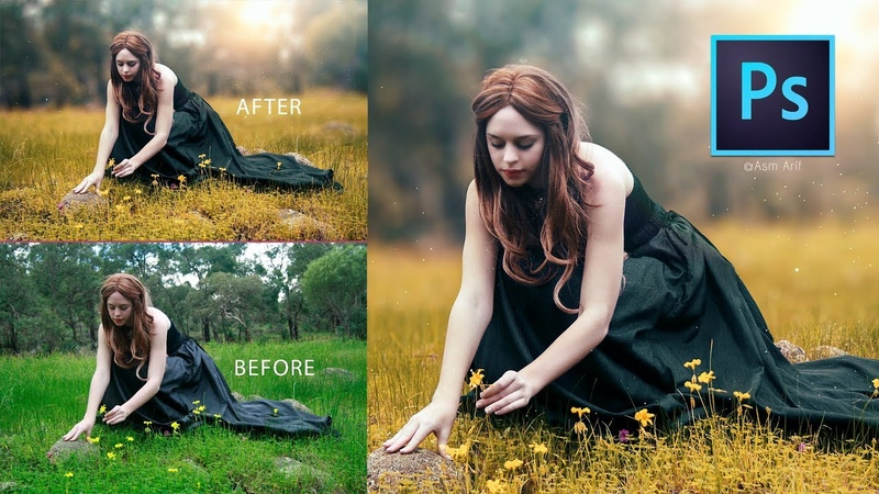 Photoshop Tutorial How to Edit Outdoor Portrait Blur Color Background смотреть онлайн без регистрации