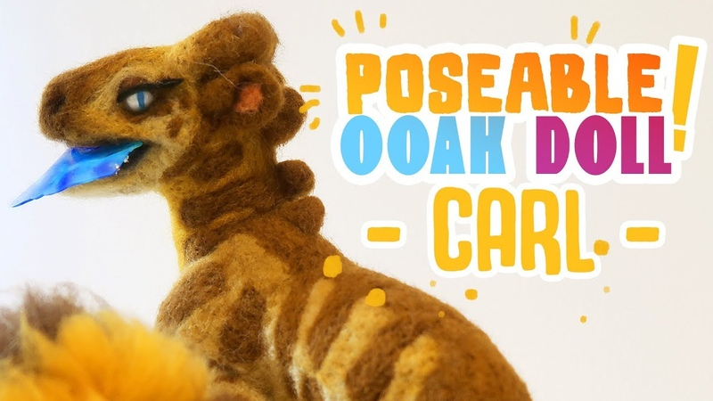 Poseable OOAK Art Doll: The Magnificent Carl