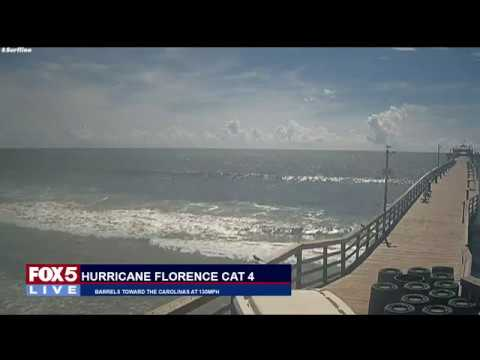 FOX 5 LIVE (9/12): HURRICANE FLORENCE barrels toward NC at 125 mph - coast braces for hit