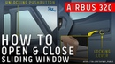 Airbus A320 - How to open close cockpit sliding window