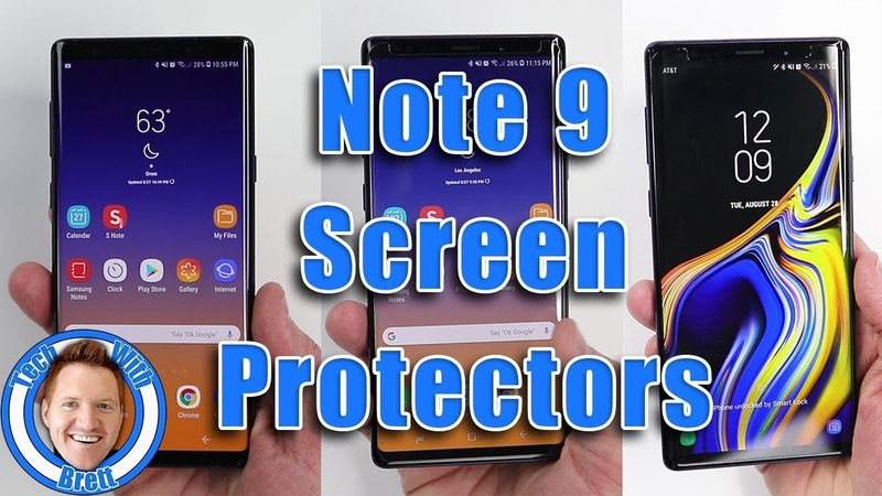 Note 9 Screen Protector Comparison | ZAGG, ZIZO Dome Glass