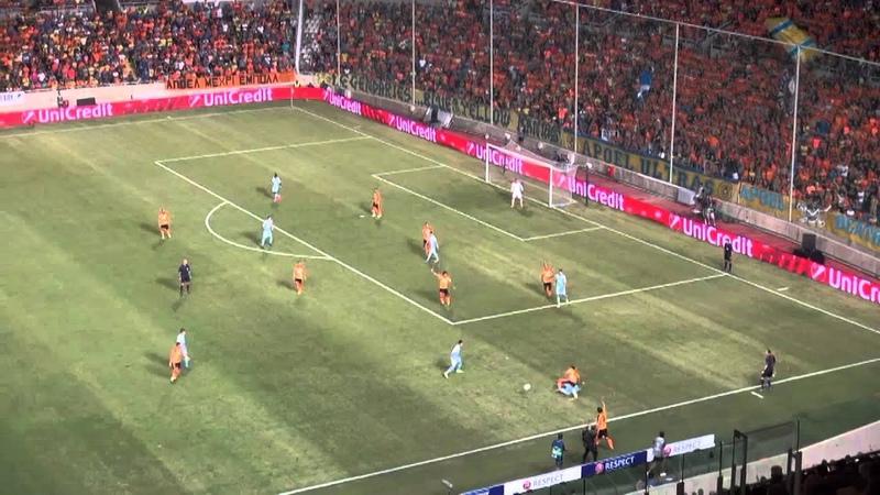 Ответный матч раунда плей-офф Лиги чемпионов АПОЕЛ АСТАНА 1:1
