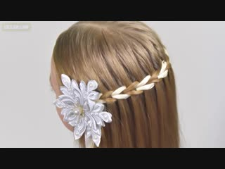 New Years Eve HairStyle✨Scissor Waterfall Braid with Ribbon✨Amazing Easy Hairstyles for Girls #18