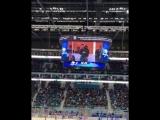 Геннадий Головкин посетил матч #БарысЦСКА. Астанчане привествовали чемпиона авациями