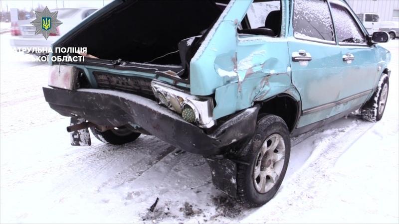 Внаслідок зіткнення чотирьох автомобілів травмована дитина