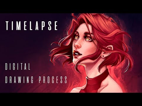 Timelapse: digital drawing process | Joe's ART
