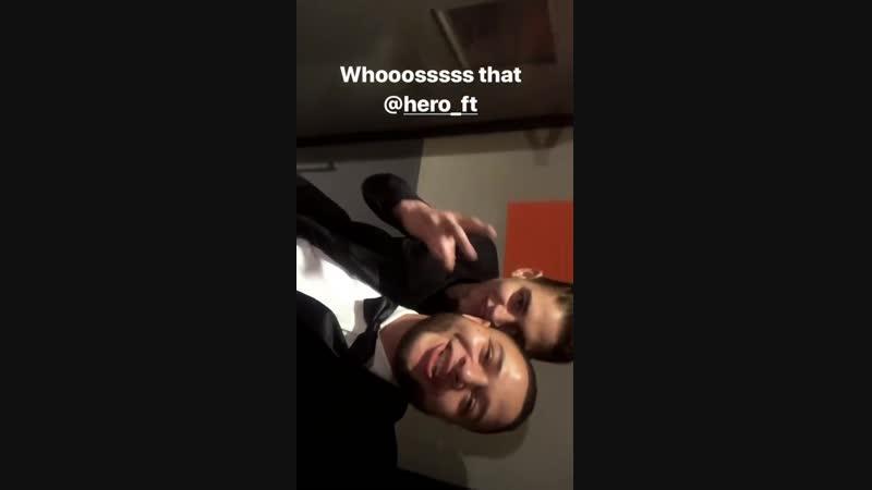 Instagram Stories друга Хиро 29 декабря 2018