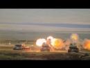 Стрельба гаубиц «Мста-Б» и САУ «Акация» в рамках маневров «Восток-2018»