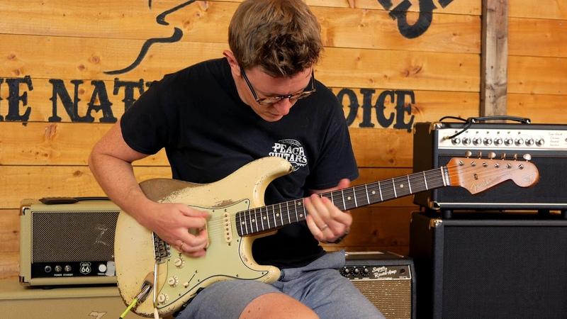 Fender Custom Shop Masterbuilt Dale Wilson 61 Strat Relic Olympic White