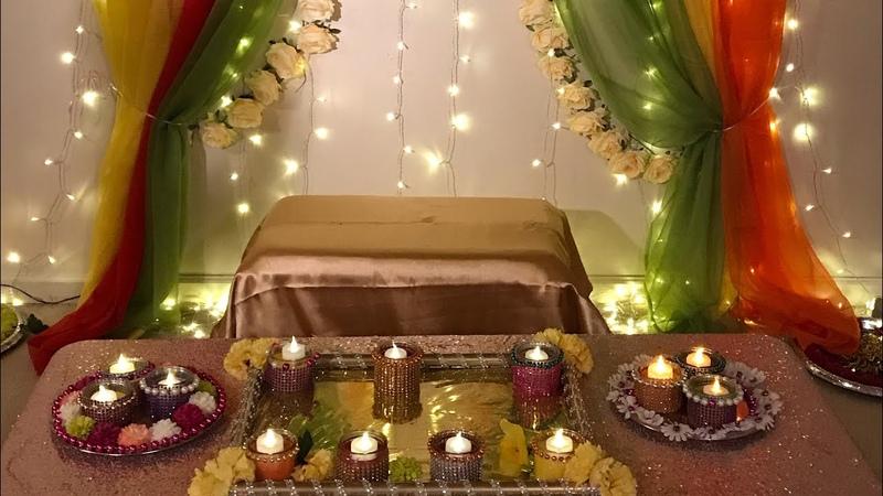 DIY- How to create backdrops on walls DIY-Mayoun and Mehndi Decor DiyTray decor Diy-Wedding decor