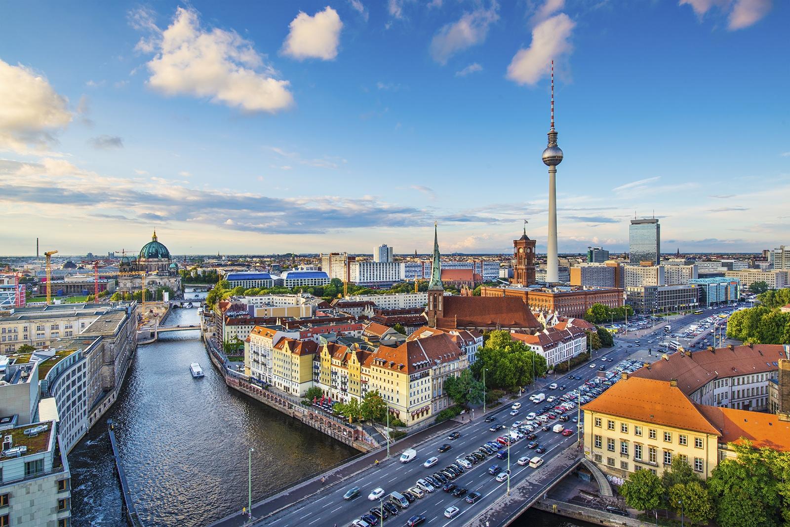 Панорама исторической части Берлина