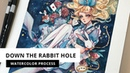 Down the Rabbit Hole | Watercolour Process (Timelapse) by Margaret Morales