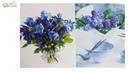О синем цвете в букете